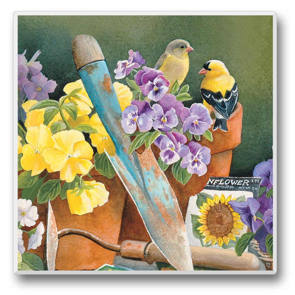 Take Flight Coasters Goldfinches Set of 6
