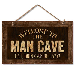 .in Man Cave .in  HANGING SIGN 9.5 X 5.