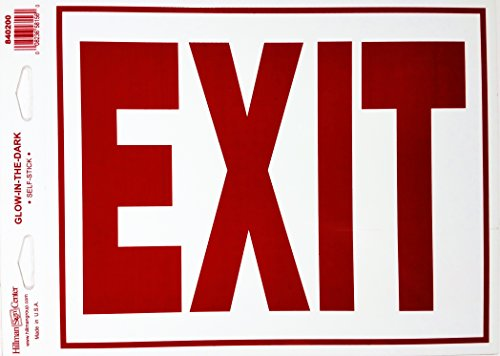 8X11 GLOW IN THE DARK EXIT SIGN