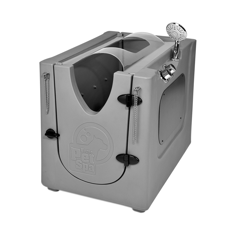 Pet Wash Enclosure with Splash Guard