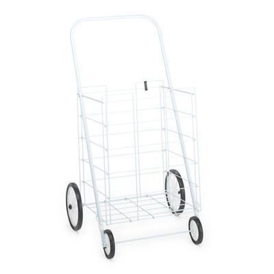 4 Wheel Large Tote Cart White  F