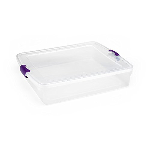 56Qt Underbed Clear Storage