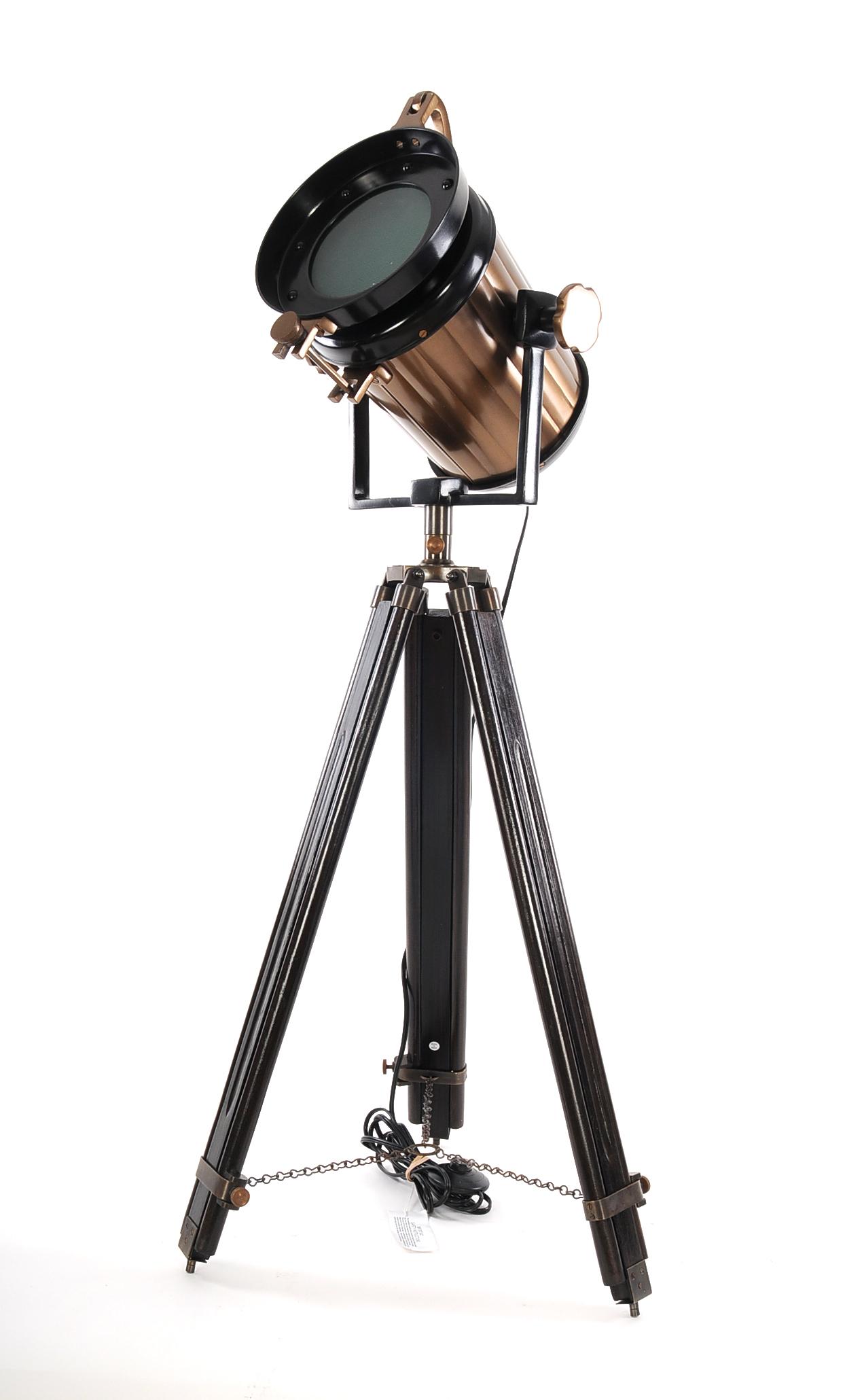 "28"" x 28"" x 65.5"" Alum Steel Spot Light Wood Stand Textured Glass"