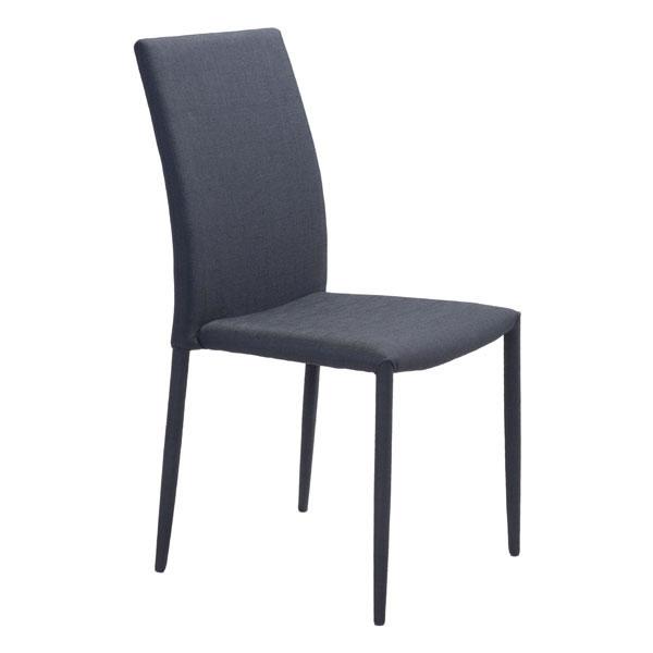 "16.9"" X 21.7"" X 35"" Black Polyblend Steel Dining Chair"