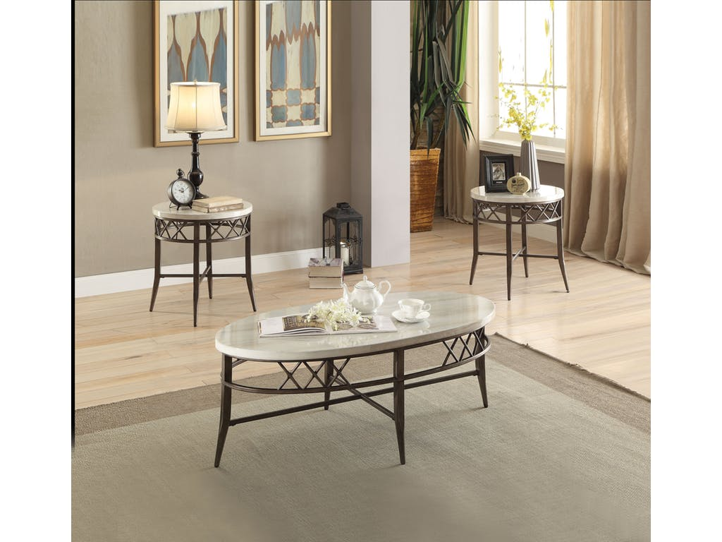 """1"""" X 1"""" X 48"""" 3Pc Pack Coffee And End Table Set"""