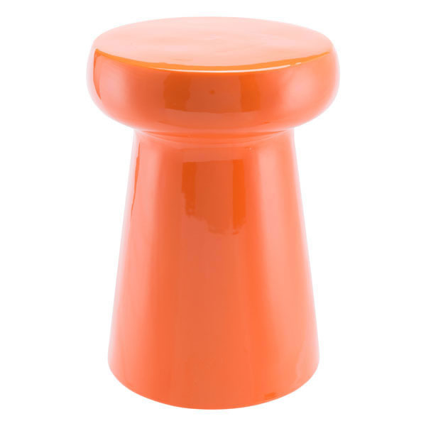 """12.6"""" X 12.6"""" X 17.7"""" Orange Garden Seat"""