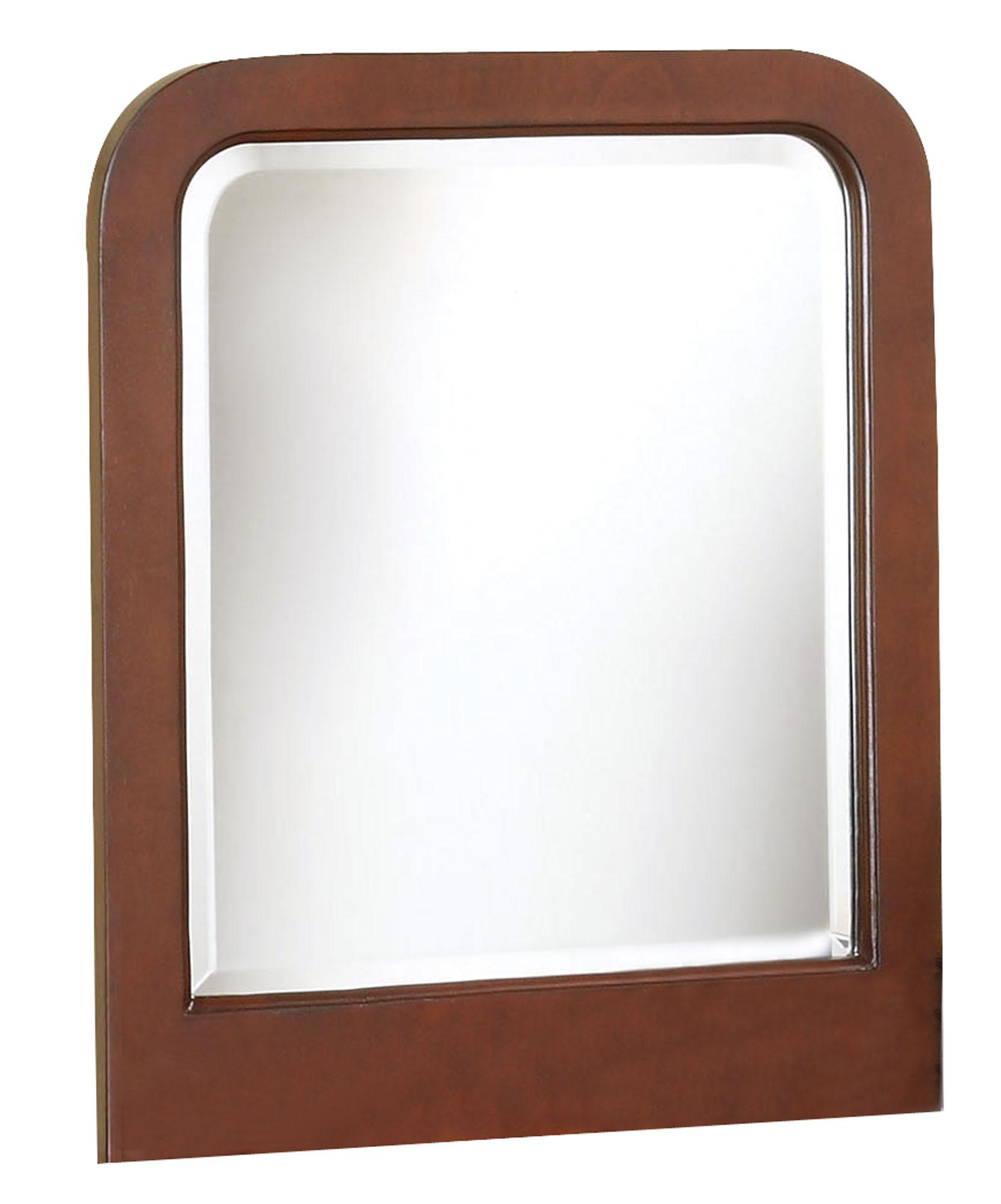 """1"""" X 25"""" X 24"""" Brown Wood Vanity Mirror"""