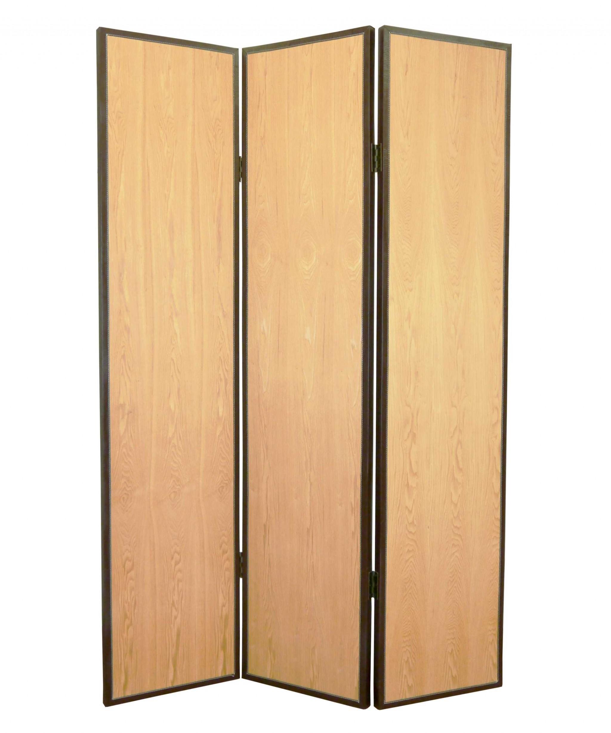 "1"" x 47"" x 71"" Natural Wood  Screen"