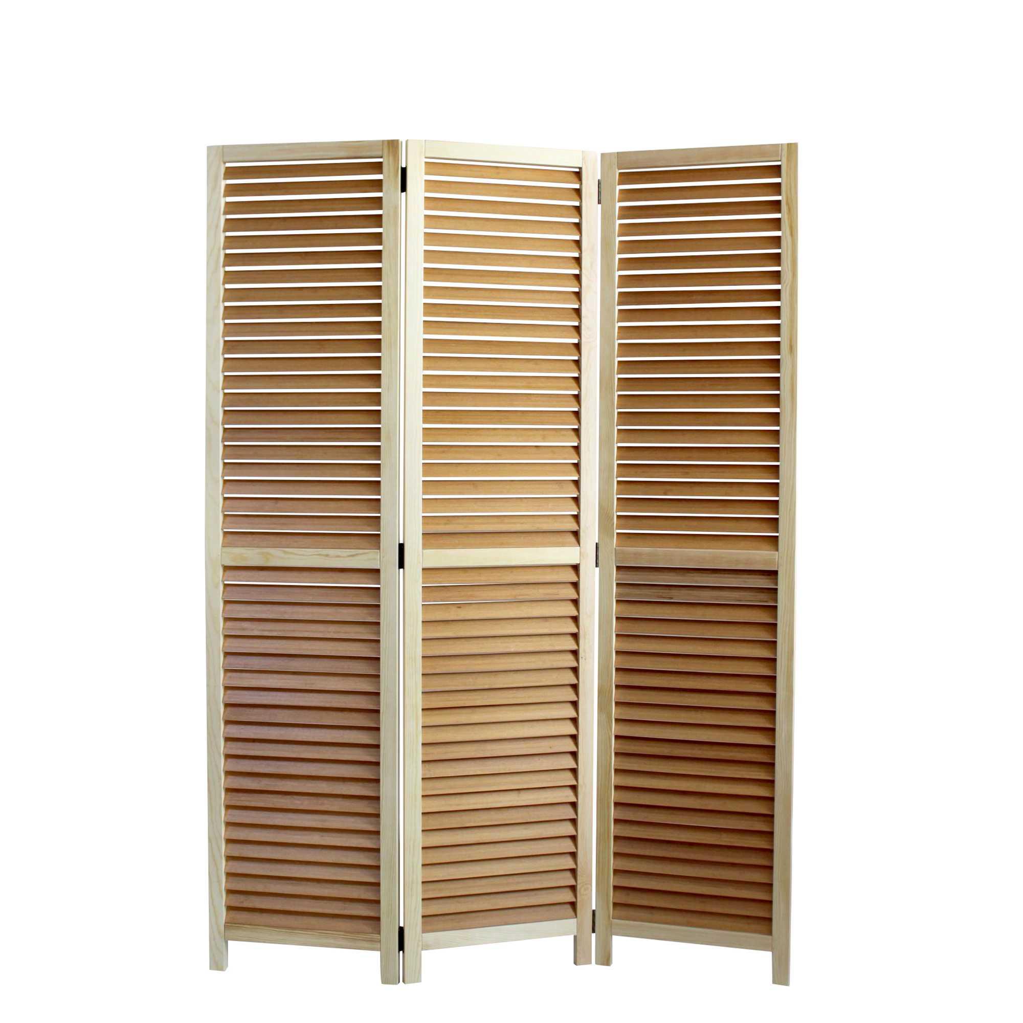 "1"" x 47"" x 67"" Natural Wood  Screen"