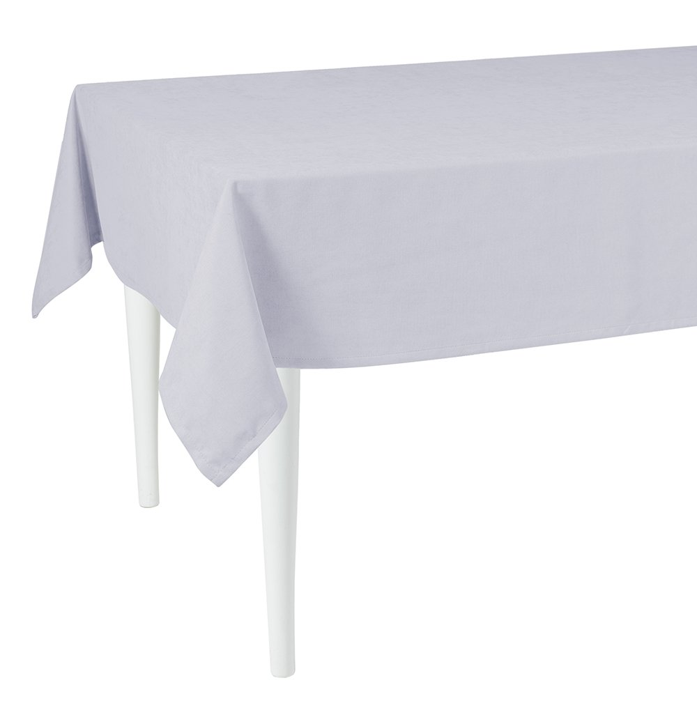"""120"""" Merry Christmas Rectangle Tablecloth in  Grey"""