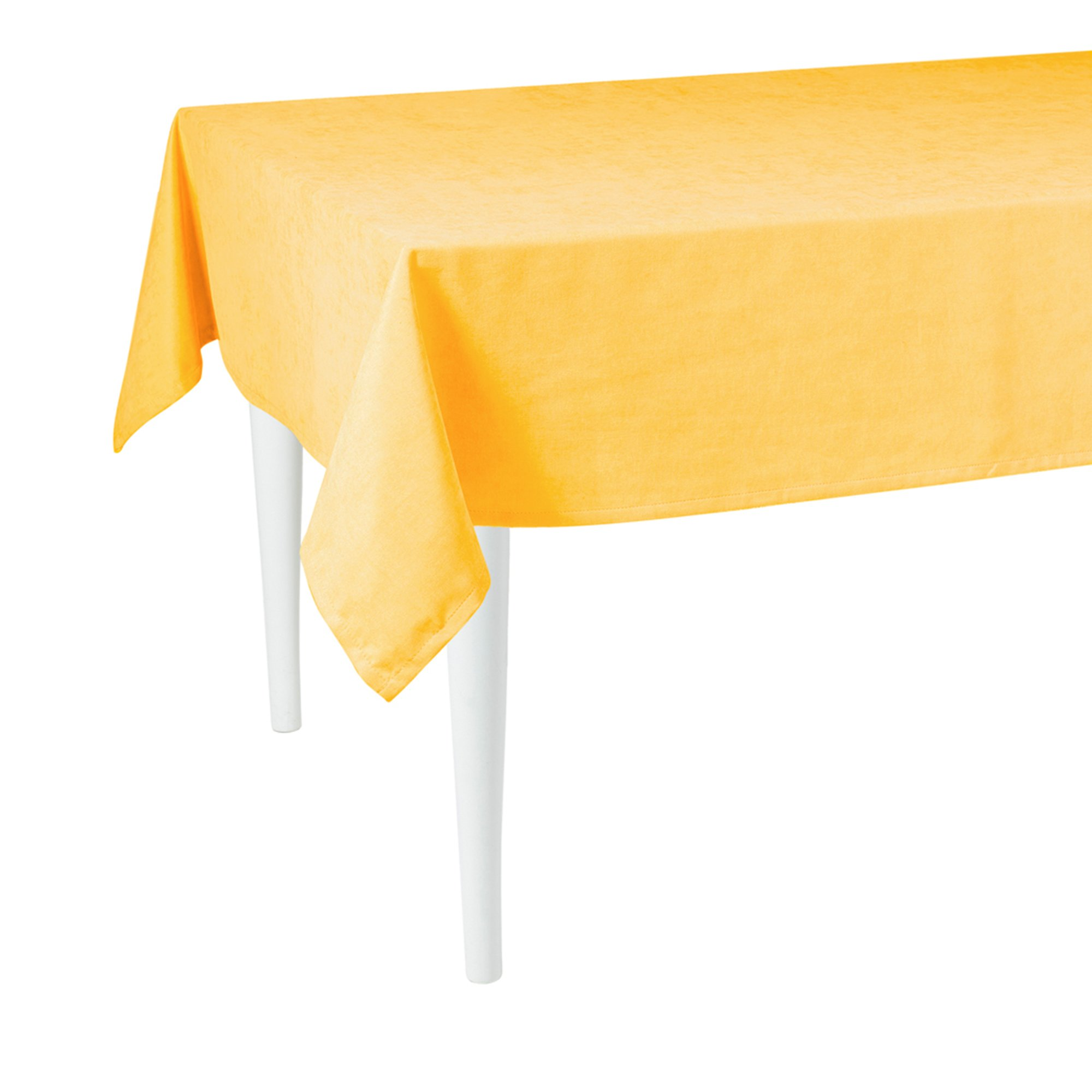 """120"""" Merry Christmas Rectangle Tablecloth in  Yellow"""