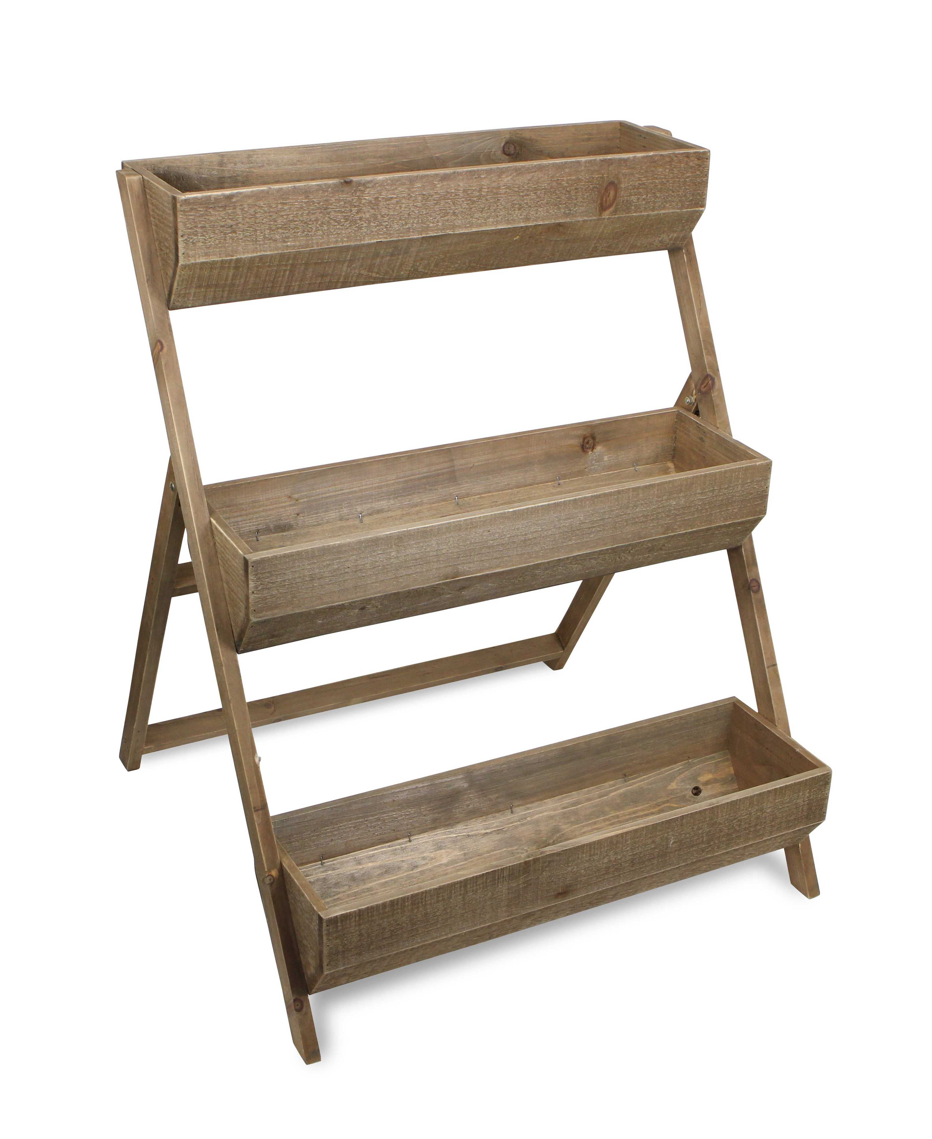 3 Tier Wooden Shelves Storage Plant Stand