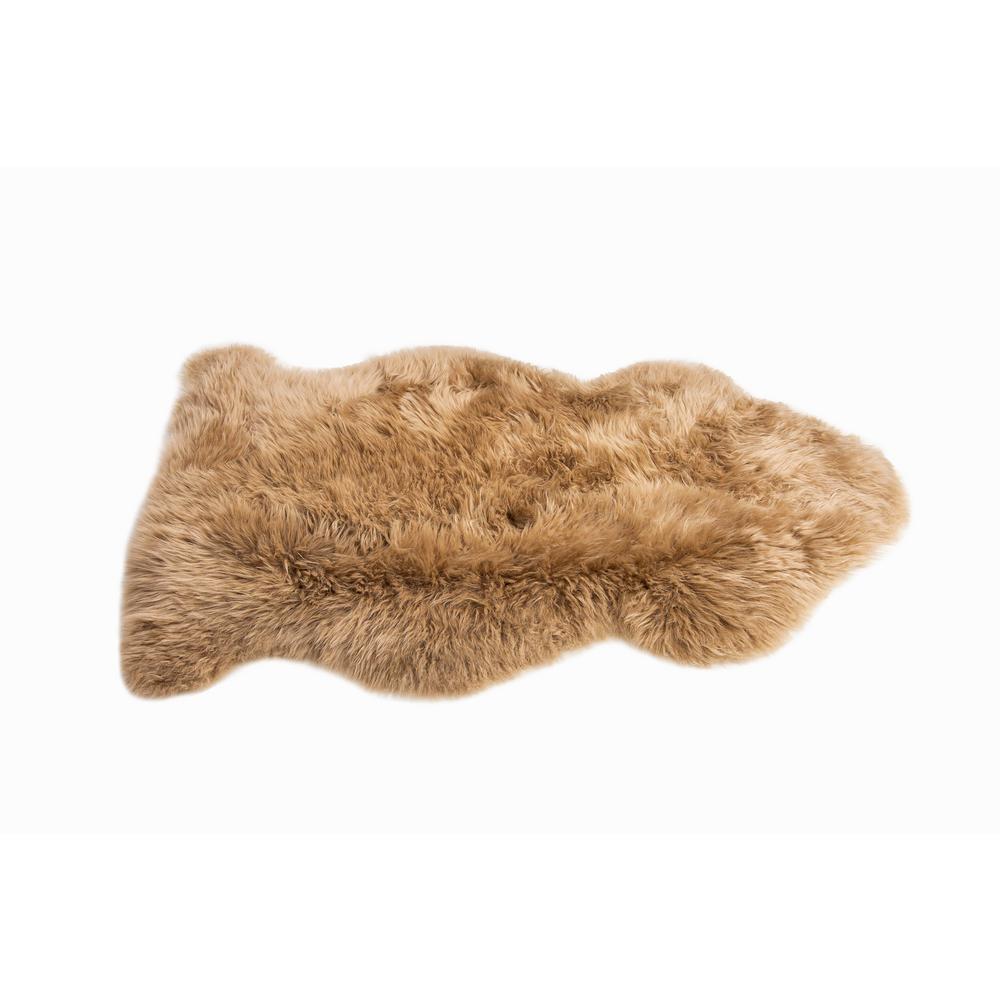 Mushroom New Zealand Natural Shearling Sheepskin Rug