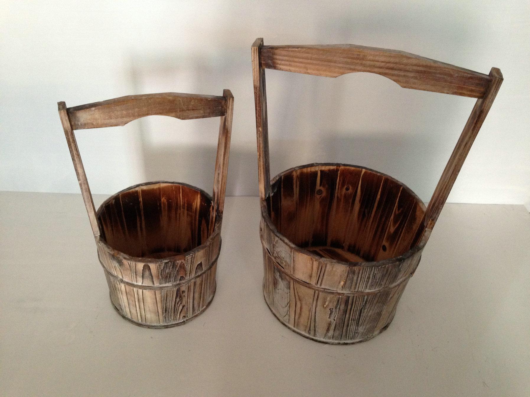 10 x 10 Brown, Wood Garden Planter - 2 Piece