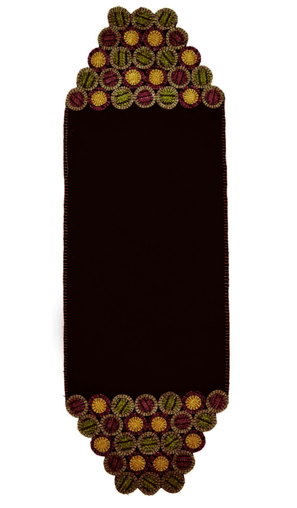 "Home Spice Dakota Brown Penny Table Runner, Rectangle - 13"" x 40"""