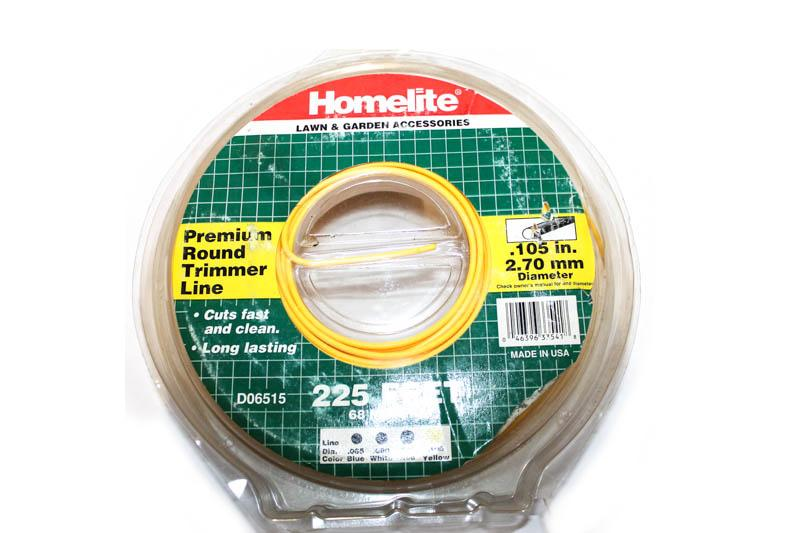 .105in. Dia., Trimmer Line, HOMELITE D06515 Homelite Handheld Equipment Parts