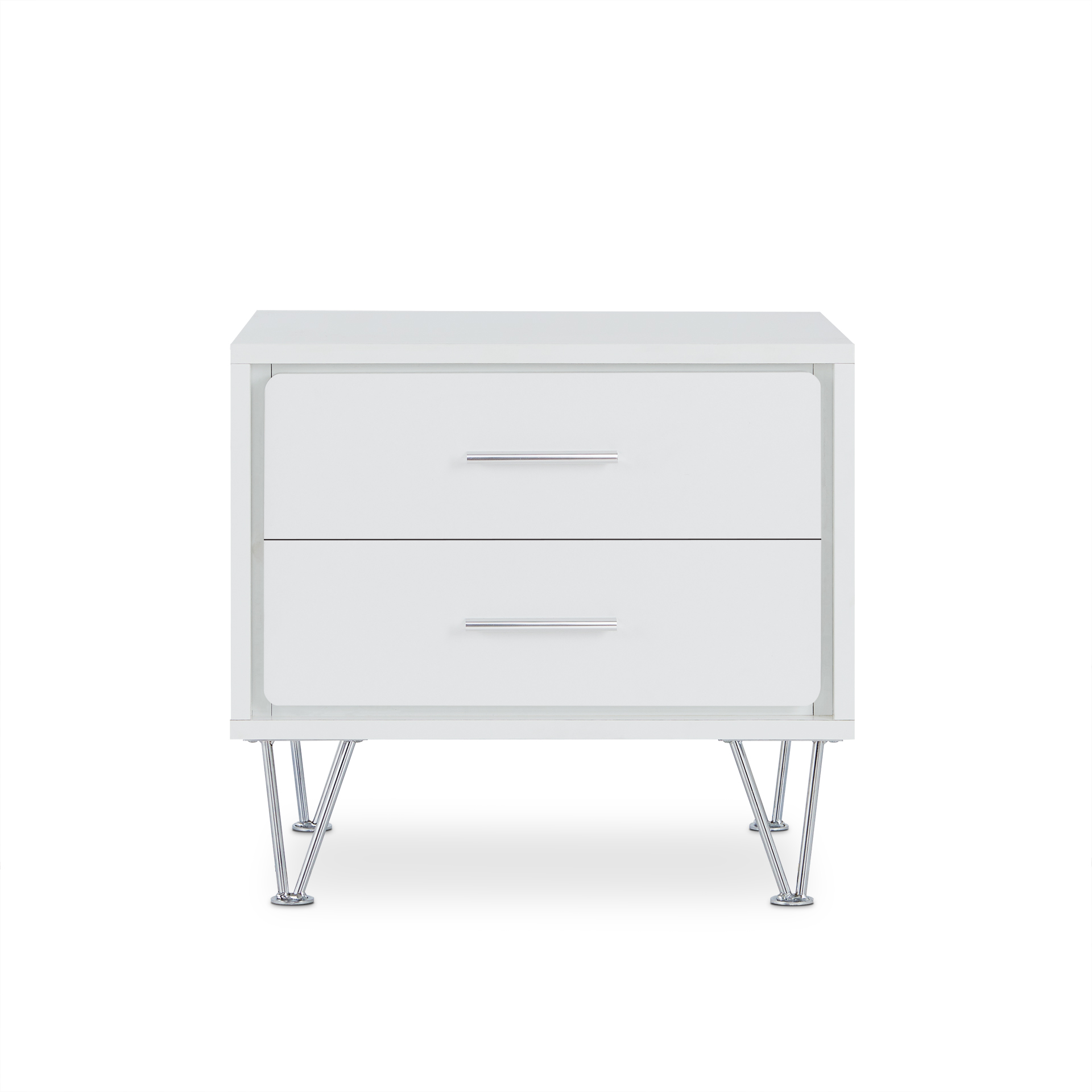 "19.69"" X 15.75"" X 17.93"" White Particle Board Nightstand"