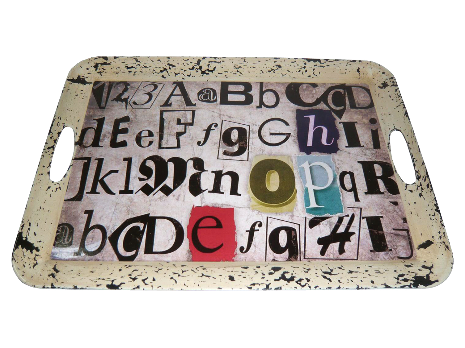 """1"""" x 20"""" x 15"""" Multi Color Metal  Inspiration Tray"""