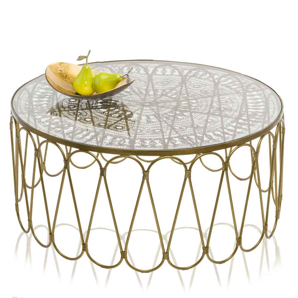 """10.5"""" x 14"""" x 3.5"""" Gold and Bronze Metal Oblong Tray"""