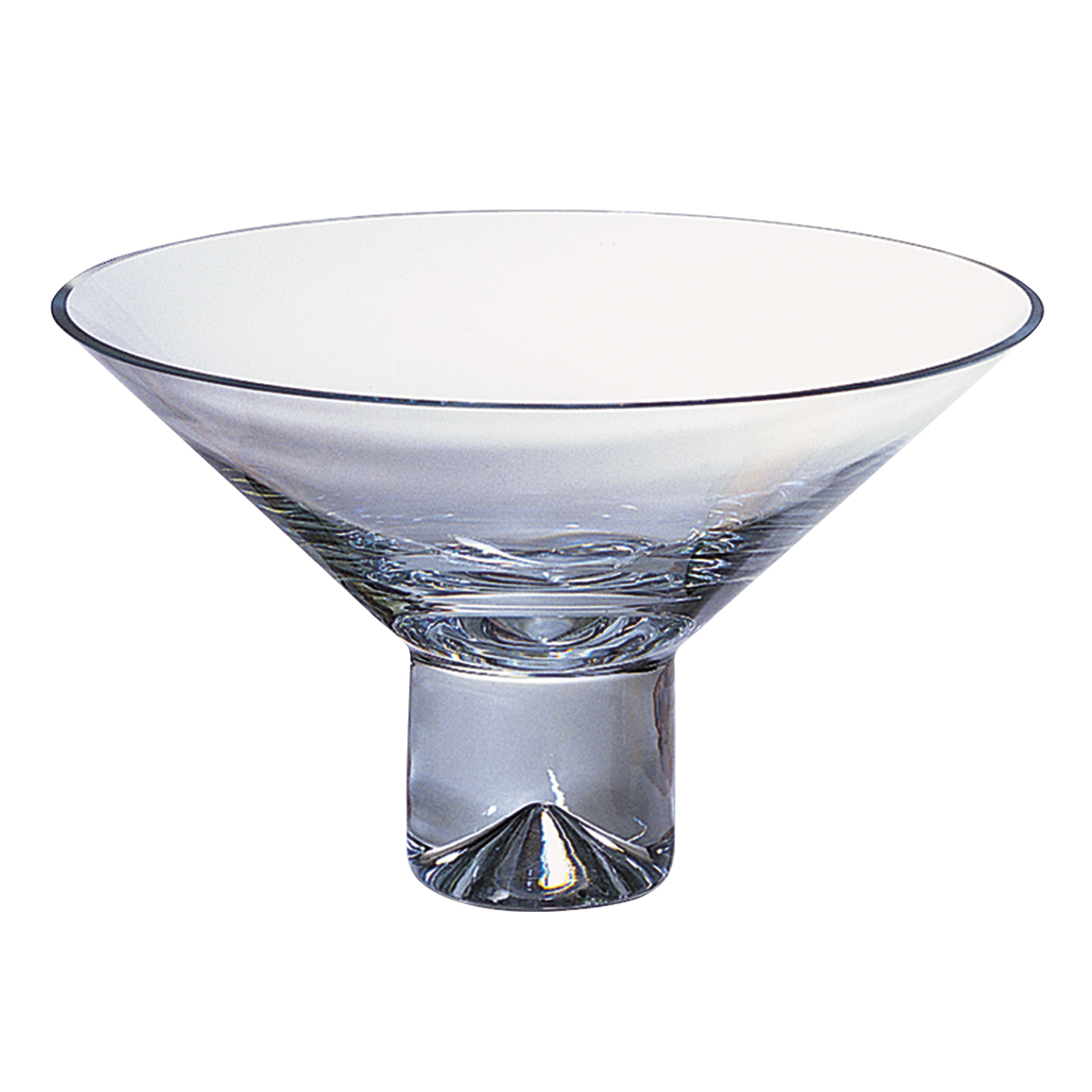 """11"""" Mouth Blown Crystal Centerpiece or Fruit Bowl"""