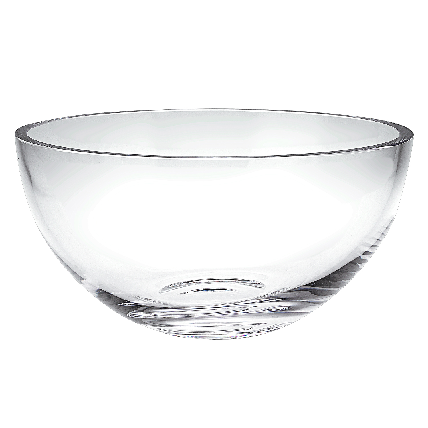 """10"""" Mouth Blown Glass Salad or Fruit Bowl"""