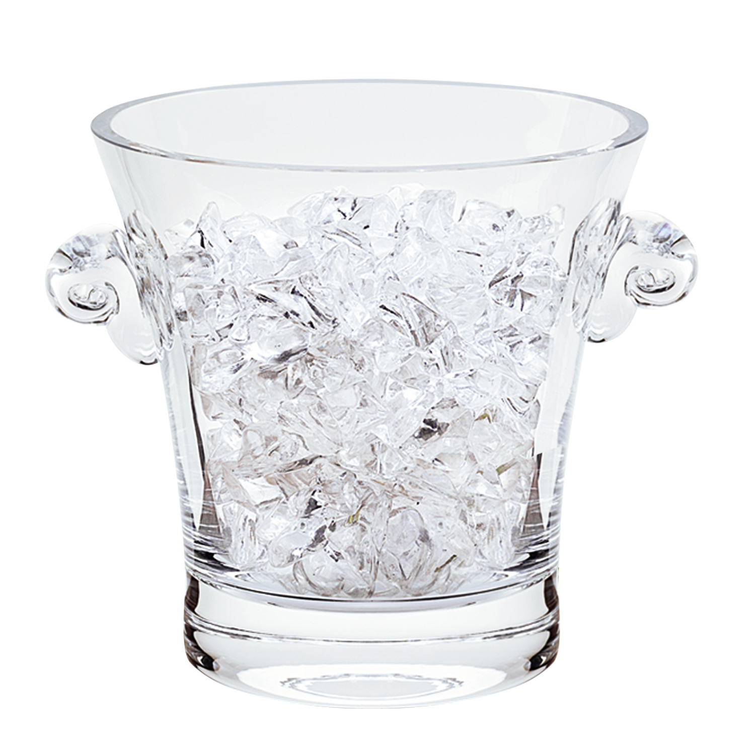 """6"""" Mouth Blown Crystal Ice Bucket"""