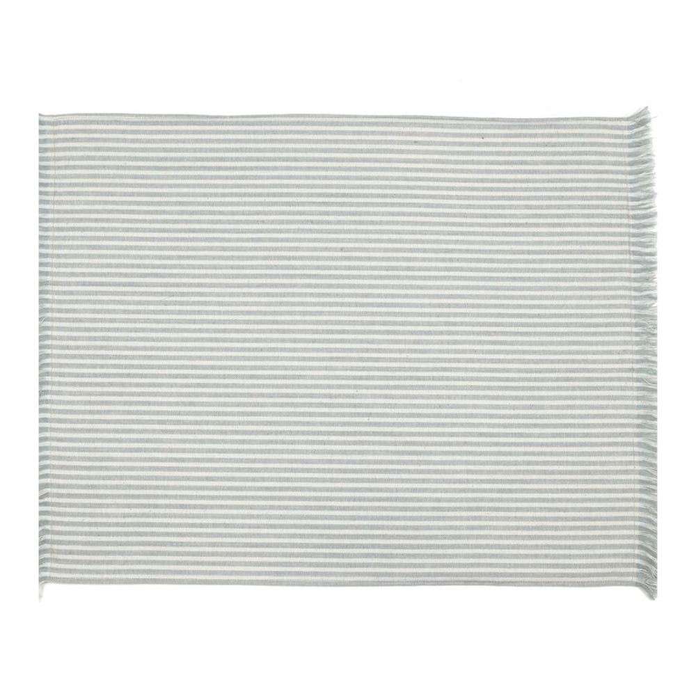 Set of Eight Periwinkle Striped Placemats