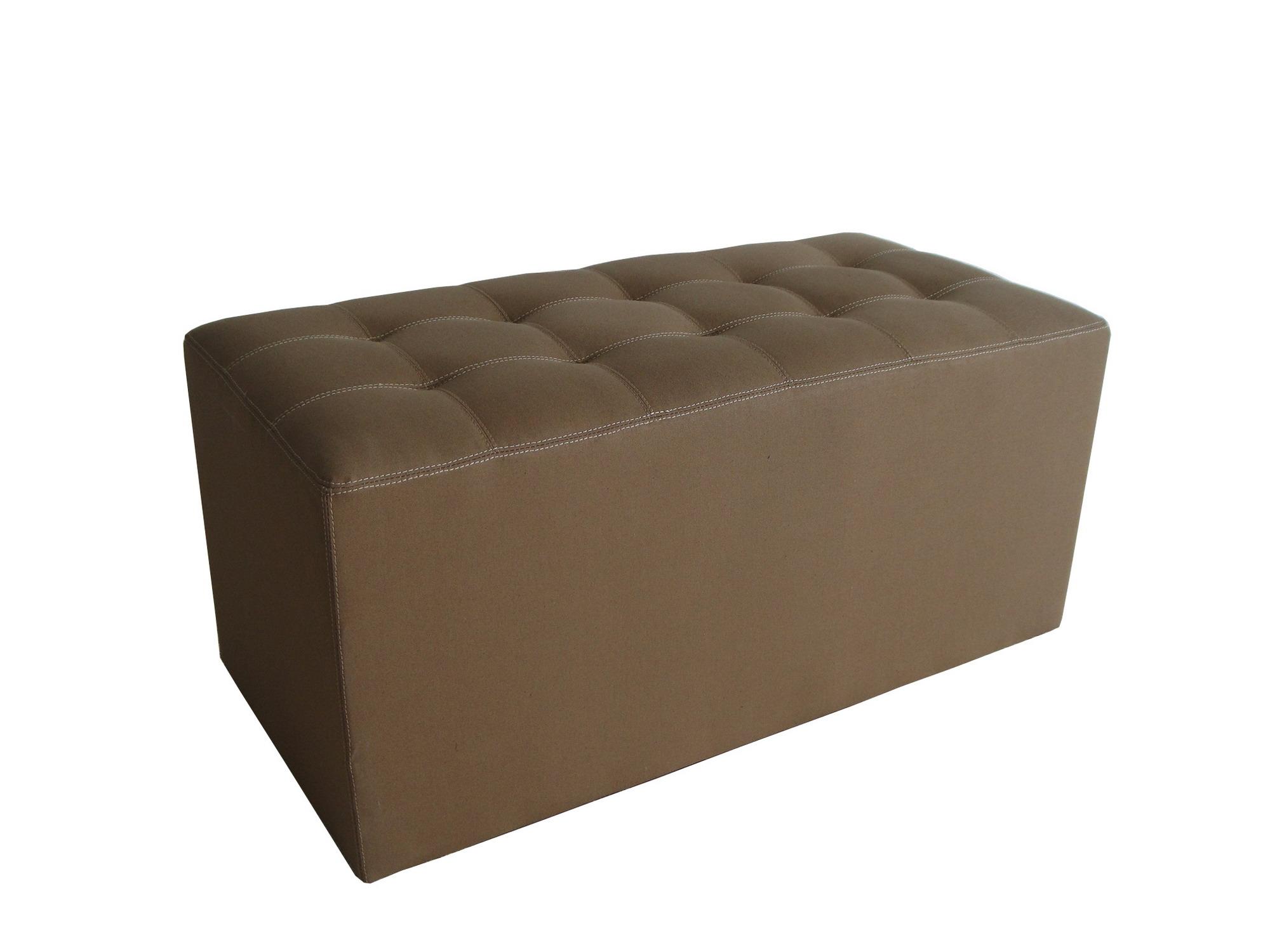 "1"" x 32"" x 16"" Tan Wood Canvas  Bench"