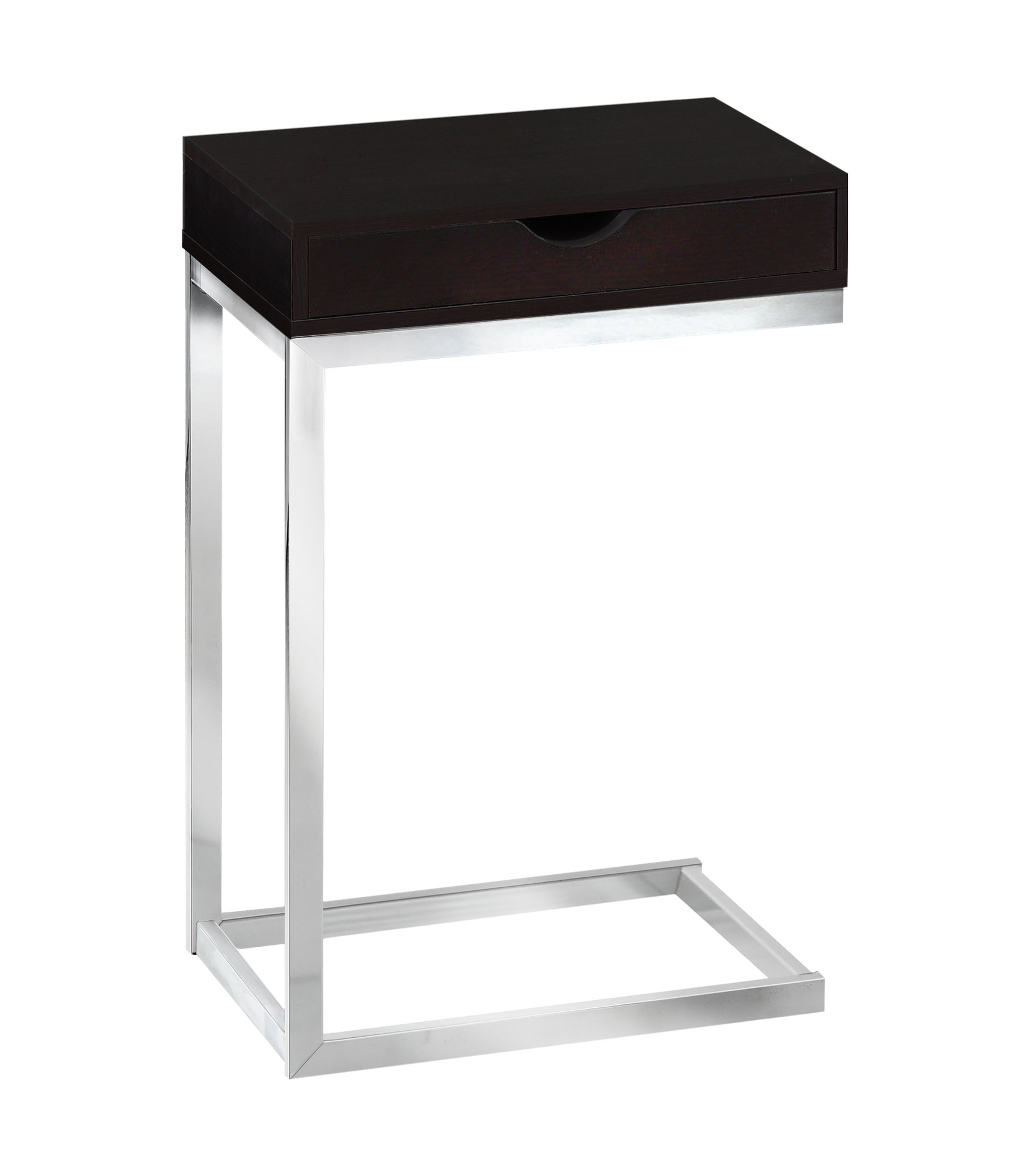 """10.25"""" x 15.75"""" x 24.5"""" Cappuccino Finish Metal Accent Table"""