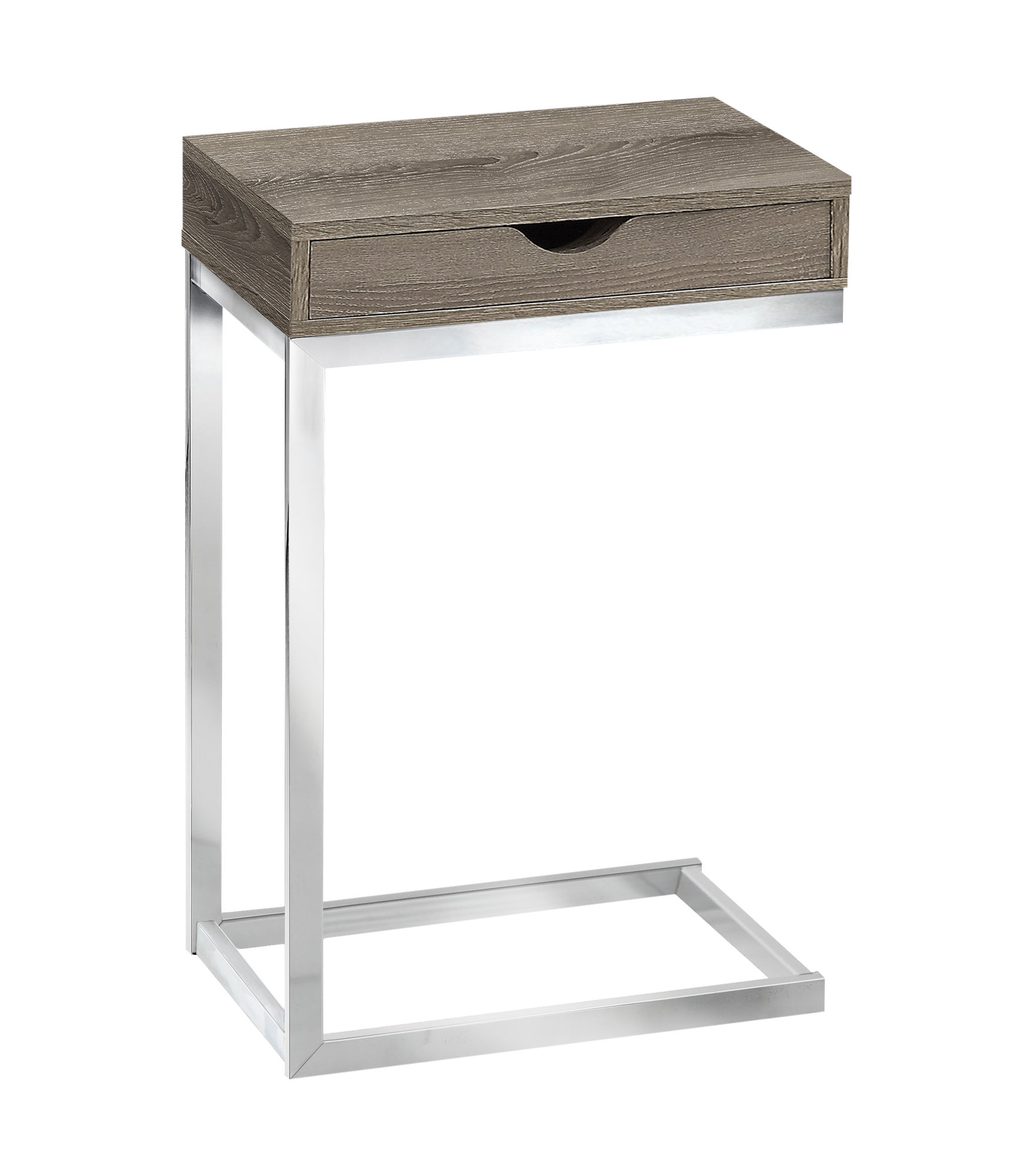 """10.25"""" x 15.75"""" x 24.5"""" Dark Taupe Finish Metal Accent Table"""