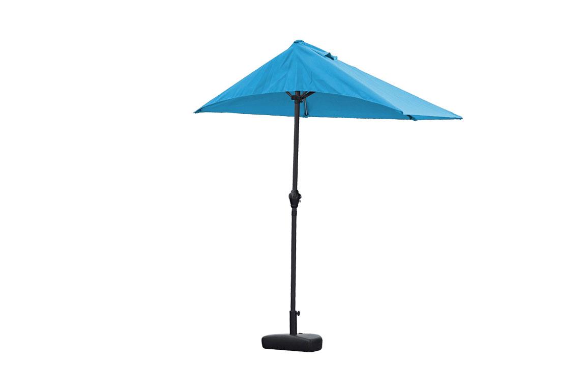 "110"" X 10"" Blue iron Side Wall Umbrella"