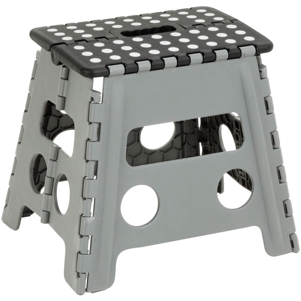 Folding Step Stool Gray