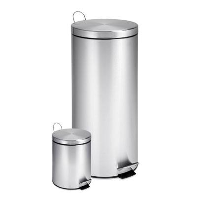 Stainless Step Trash Can 2 pack