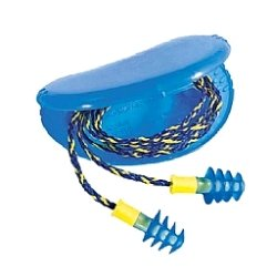 FUS30S-HP Fusion Multiple-Use Earplugs, Small, 27NRR, Corded, GN/WE, 100 Pairs