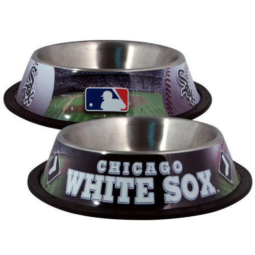 10 x 2 CHIC WHITE SOX-PET BOWL DESG