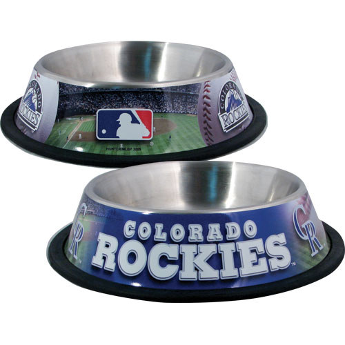 10 x 2 COLO ROCKIES-PET BOWL DESG