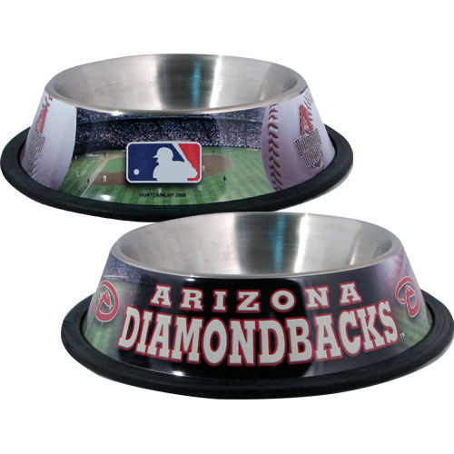 10 x 2 Arizona Diamondbacks Dog Bowl-Stainless