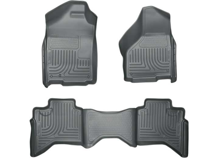 02-08 RAM 1500 QUAD/03-09 RAM 2500/3500 QUAD CAB WEATHERBEATERS FRONT & 2ND SEAT FLOOR LINERS GREY