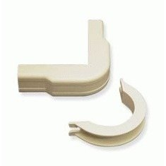 FLAT ELBOW AND BASE 1 1/4 IVORY 10PK