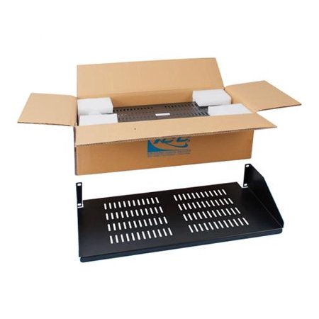RACK SHELF- 10in SINGLE VENTED-2RMS- 2PK
