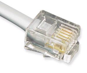25' Line Cord 6P4C 28 Gauge