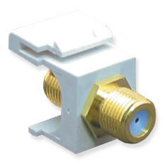 Module- F-Type- Gold Plated- 3GHZ- White