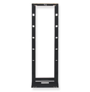 CABLE MNGMENT RACK- HYBRID- BLACK- 7ft