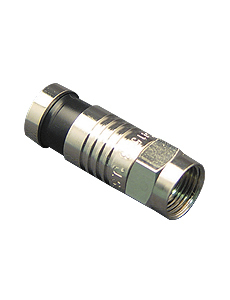 CONNECTOR- F-TYPE- RG6- 100PK