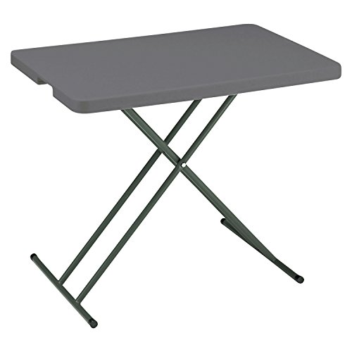 IndestrucTables Too 1200 Series Resin Personal Folding Table, 30 x 20, Charcoal