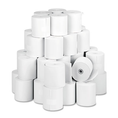 "Impact Bond Paper Rolls, 3"" x 150 ft, White, 50/Carton"