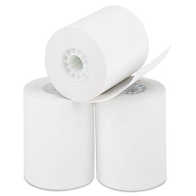 "Direct Thermal Printing Paper Rolls, 0.45"" Core, 2.25"" x 85 ft, White, 50/Carton"