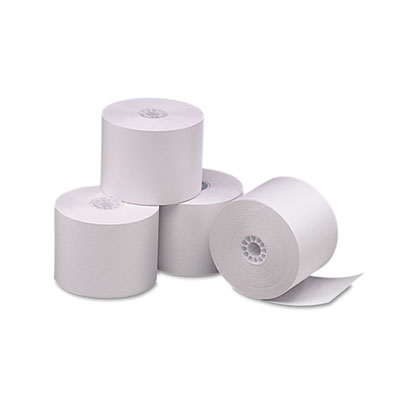 "Direct Thermal Printing Thermal Paper Rolls, 2.25"" x 165 ft, White, 6/Pack"