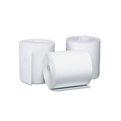 """Direct Thermal Printing Thermal Paper Rolls, 3.13"""" x 119 ft, White, 50/Carton"""