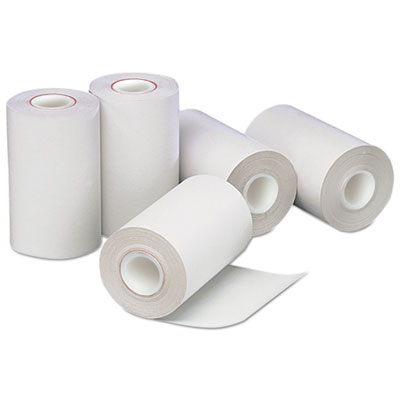 "Direct Thermal Printing Paper Rolls, 0.5"" Core, 2.25"" x 55 ft, White, 50/Carton"